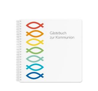"""Gästebuch Kommunion """"Pisces"""" Gästebuch weiss"""
