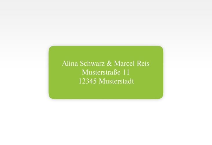 """Absenderetikett Hochzeit """"Classic"""" 45,7 x 21,2 mm"""