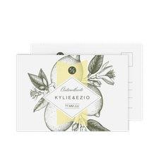 """Antwortkarte Hochzeit """"Lemon"""""""