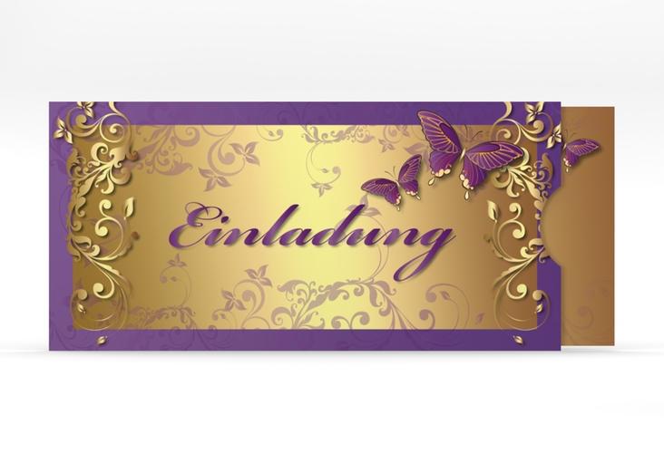 "Hochzeitseinladung ""Toulouse"" Einsteckkarte lila"