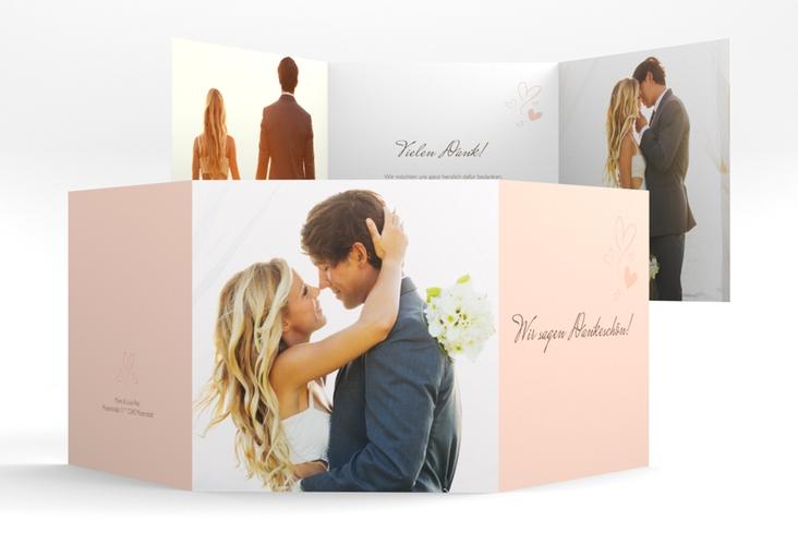 "Dankeskarte Hochzeit ""Purity"" Quadr. Karte doppelt"
