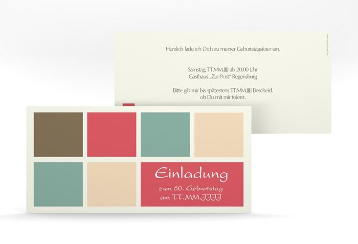 "Einladungskarte ""Daniel/Daniela"" DIN lang rot"
