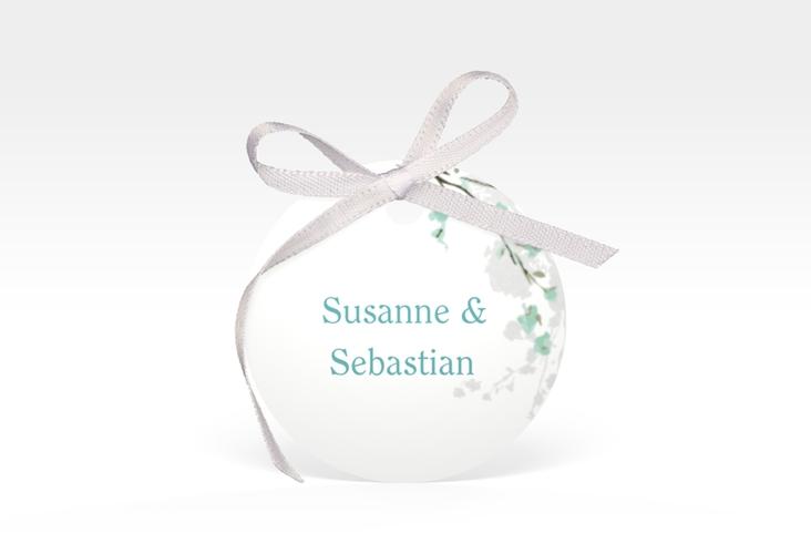 """Geschenkanhänger Hochzeit """"Salerno"""" Geschenkanhänger, rund mint"""