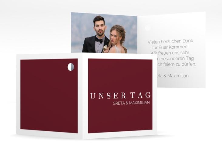 "Geschenkanhänger Hochzeit ""Simply"" Geschenkanhänger 10er Set rot"