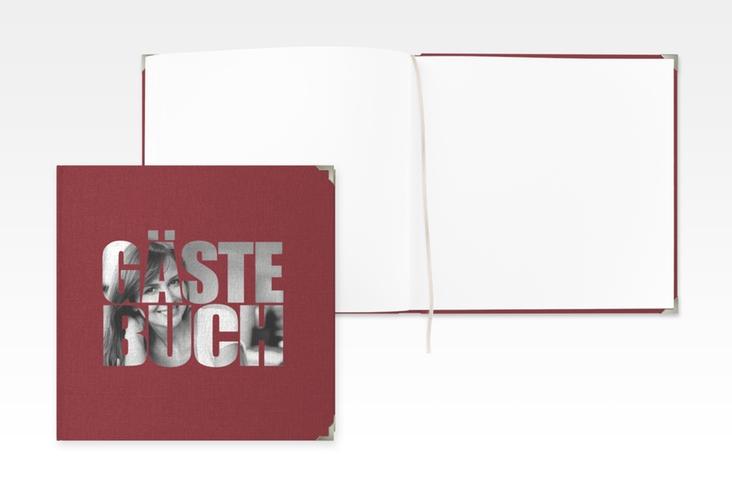 """Gästebuch Selection Geburtstag """"Jahreszahl"""" Leinen-Hardcover rot"""