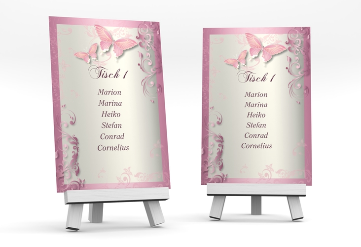 """Tischaufsteller Hochzeit """"Toulouse"""" Tischaufsteller rosa"""