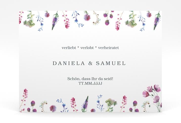 """Willkommensschild Poster """"Wildblumen"""" 70 x 50 cm Poster weiss"""