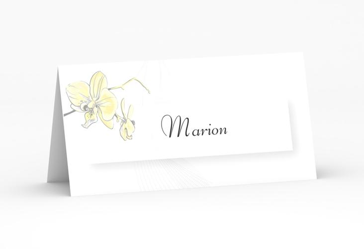 """Tischkarte Hochzeit """"Modena"""" Tischkarten gelb"""