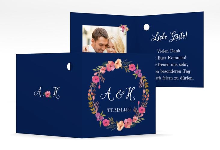 """Geschenkanhänger Hochzeit """"Fiore"""" Geschenkanhänger 10er Set blau"""