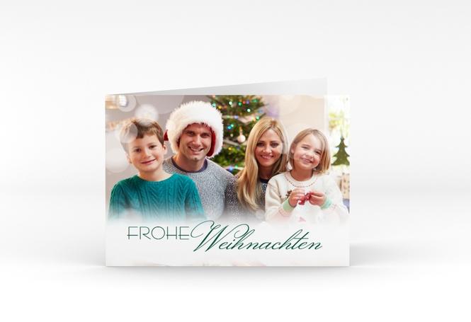 Weihnachtskarte Familienzeit A6 Klappkarte Quer
