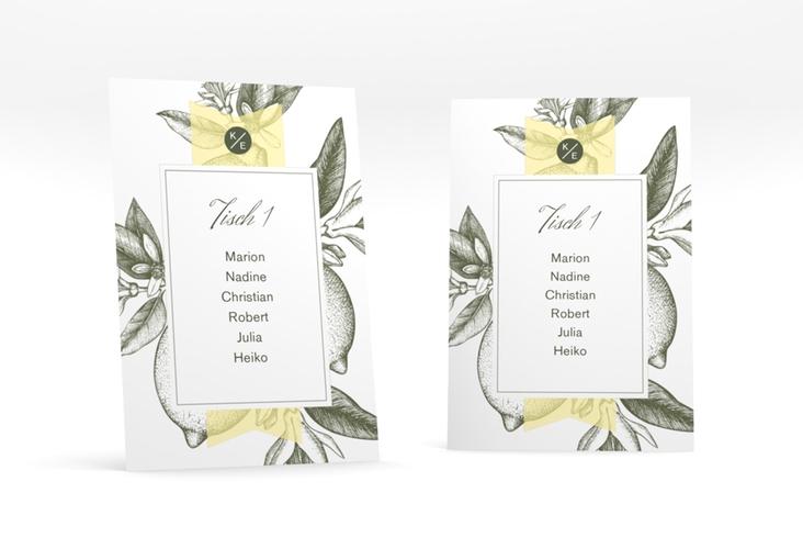 """Tischaufsteller Hochzeit """"Lemon"""" Tischaufsteller"""