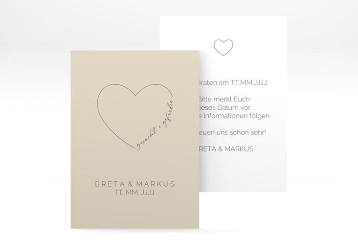 """Save the Date-Visitenkarte """"Lebenstraum"""" Visitenkarte"""