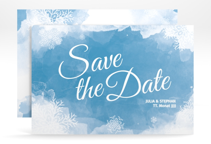 "Save the Date-Karte ""Frozen"" A6 quer"