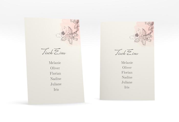 """Tischaufsteller Hochzeit """"Artlover"""" Tischaufsteller rosa"""