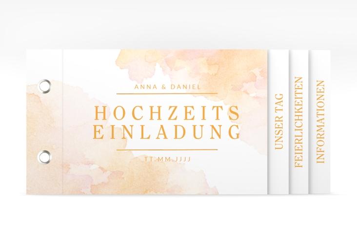 """Hochzeitseinladung """"Blush"""" Booklet orange"""