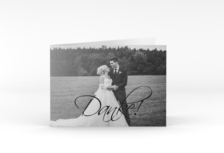 "Danksagungskarte Hochzeit ""Clarity"" A6 Klappkarte Quer"