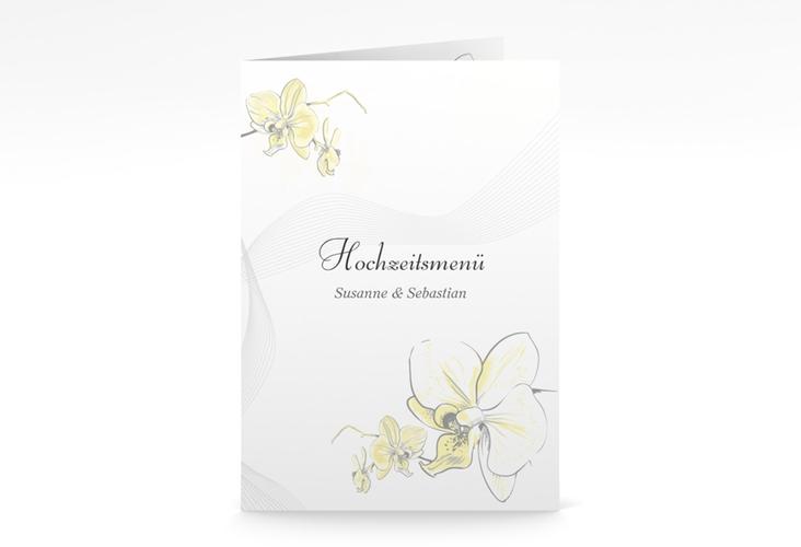 """Menükarte Hochzeit """"Modena"""" DIN A5 geklappt"""