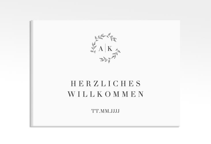 "Willkommensschild Leinwand ""Filigrana"" 70 x 50 cm Leinwand"