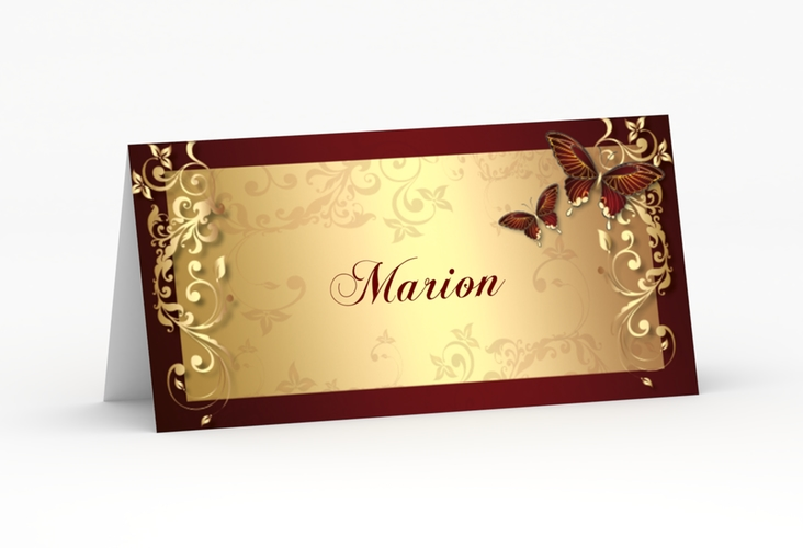 """Tischkarte Hochzeit """"Toulouse"""" Tischkarten rot"""