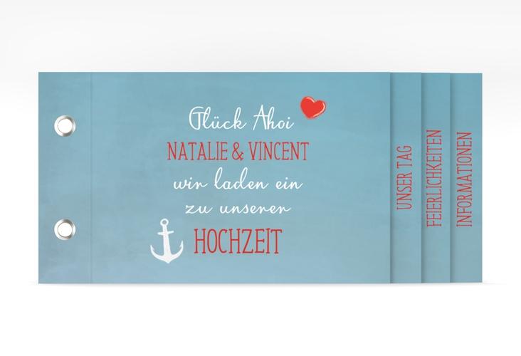 """Hochzeitseinladung """"Ehehafen"""" Booklet"""