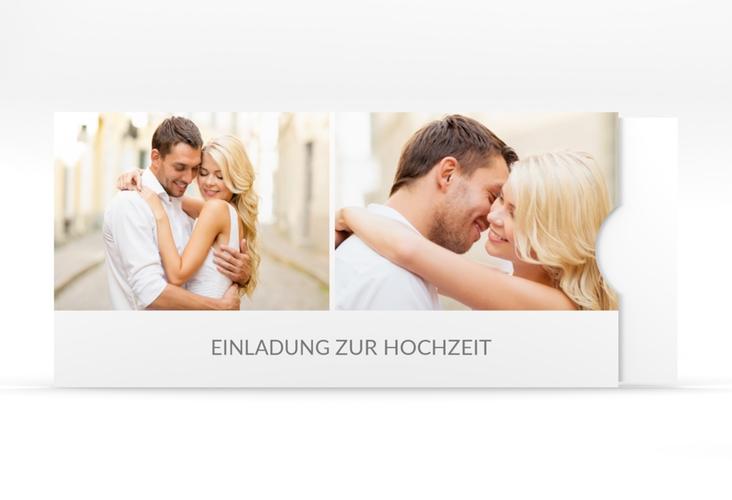 """Hochzeitseinladung """"Vista"""" Einsteckkarte weiss"""