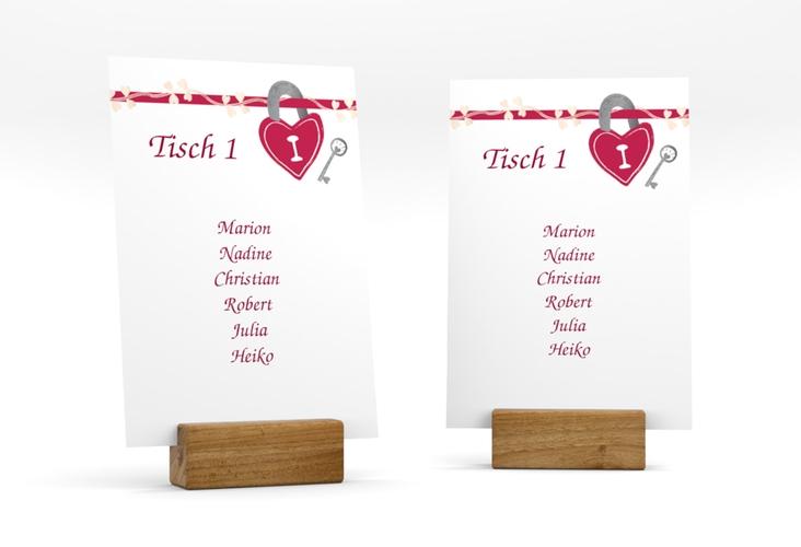 """Tischaufsteller Hochzeit """"Oviedo"""" Tischaufsteller pink"""