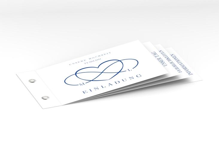 """Hochzeitseinladung """"Infinity"""" Booklet blau"""