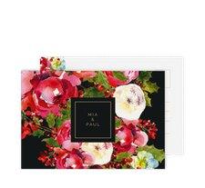 """Antwortkarte Hochzeit """"Blumenpracht"""""""