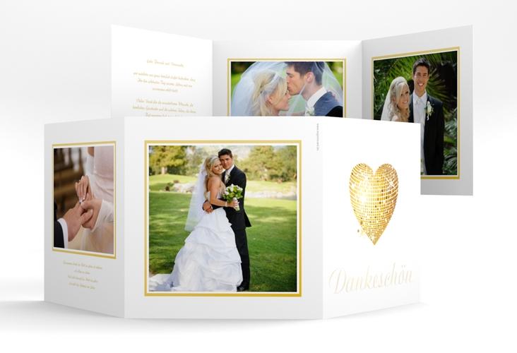 """Danksagungskarte Hochzeit """"Rimini"""" Quadr. Karte doppelt"""
