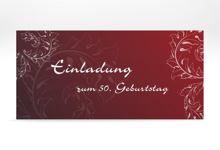 """Einladungskarte """"Peter/Petra"""" DIN lang rot"""