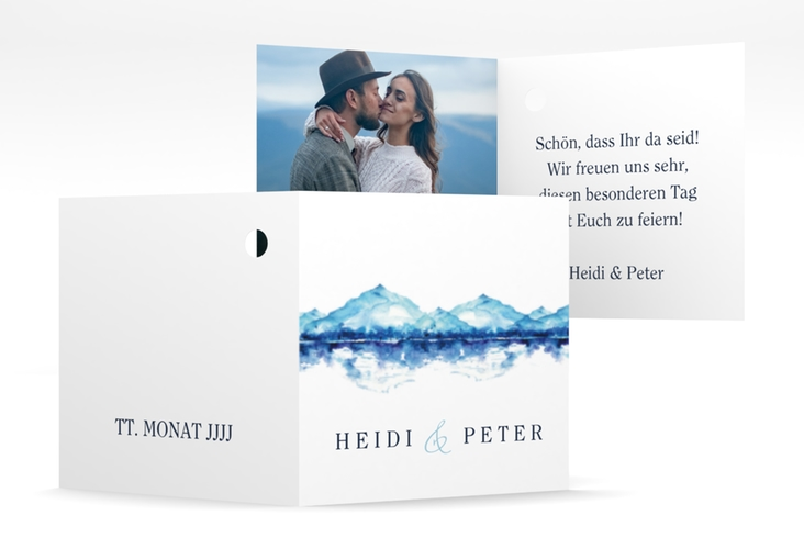"Geschenkanhänger Hochzeit ""Bergliebe"" Geschenkanhänger 10er Set"