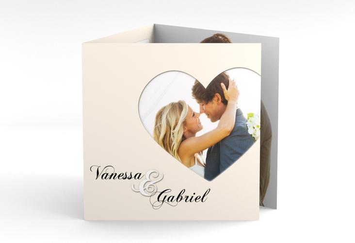 """Dankeskarte Hochzeit """"Sweetheart"""" Quadr. Karte doppelt"""