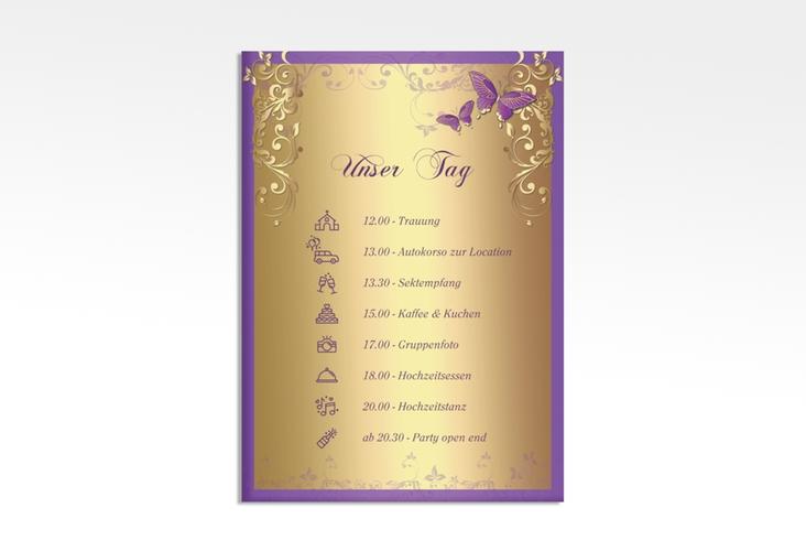 "Tagesablauf Leinwand Hochzeit ""Toulouse"" 50 x 70 cm Leinwand lila"