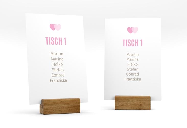 """Tischaufsteller Hochzeit """"Couple"""" Tischaufsteller rosa"""