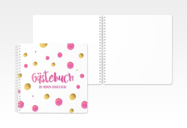 "Gästebuch Geburtstag ""Dots"" Ringbindung"
