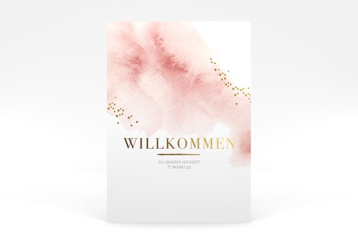 "Willkommensschild Poster ""Pastell"" 50 x 70 cm Poster rosa"
