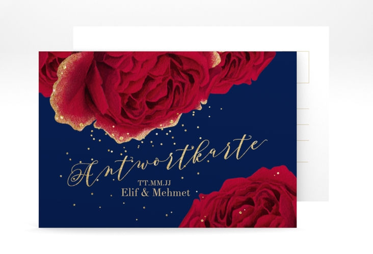 """Antwortkarte Hochzeit """"Cherie"""" A6 Postkarte"""