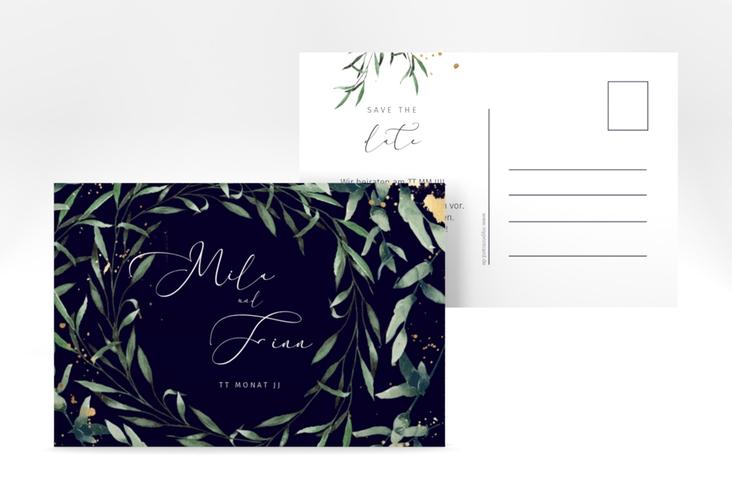 """Save the Date-Postkarte """"Vivaldi"""" A6 Postkarte blau"""