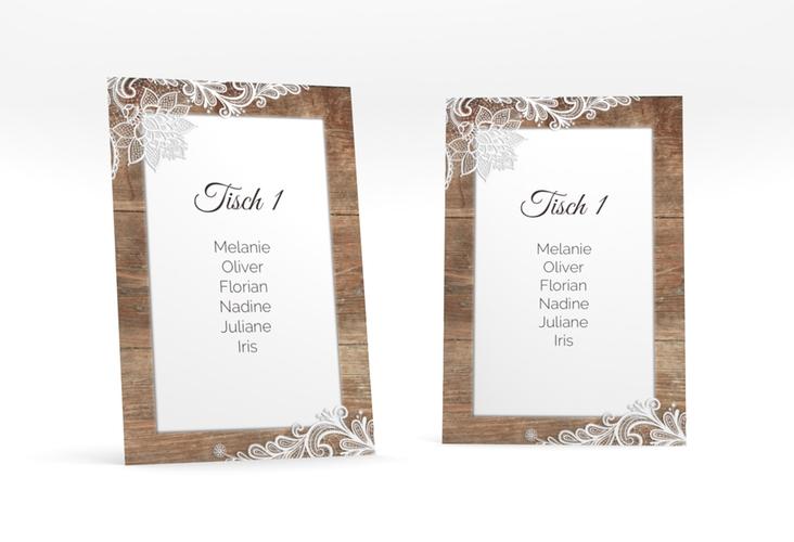 """Tischaufsteller Hochzeit """"Spitze"""" Tischaufsteller"""