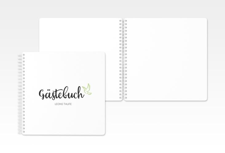 """Gästebuch Taufe """"Belief"""""""" Ringbindung gruen"""