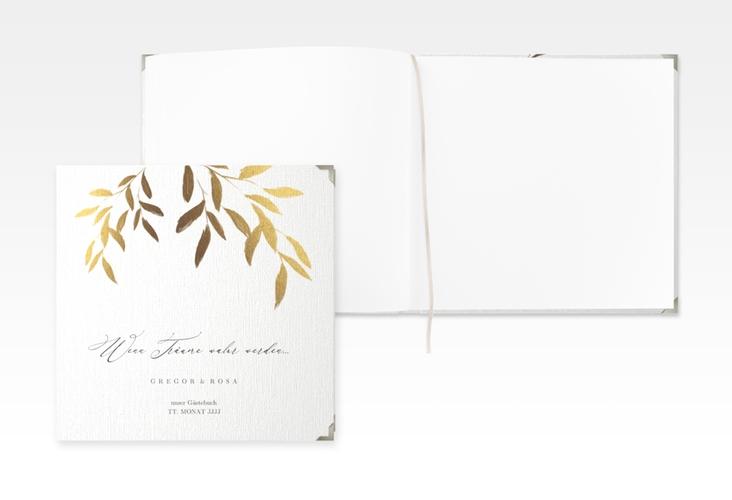 """Gästebuch Selection Hochzeit """"Demure"""" Leinen-Hardcover"""