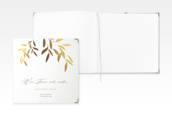 "Gästebuch Selection Hochzeit ""Demure"" Leinen-Hardcover weiss"