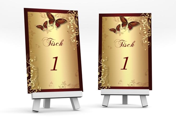 """Tischnummer Hochzeit """"Toulouse"""" Tischaufsteller"""