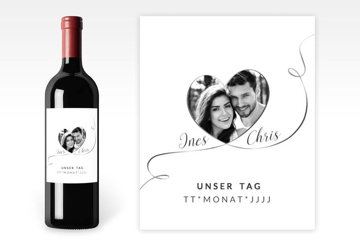 """Weinetikett zur Hochzeit """"Dolce"""" Etikett Weinflasche 4er Set"""