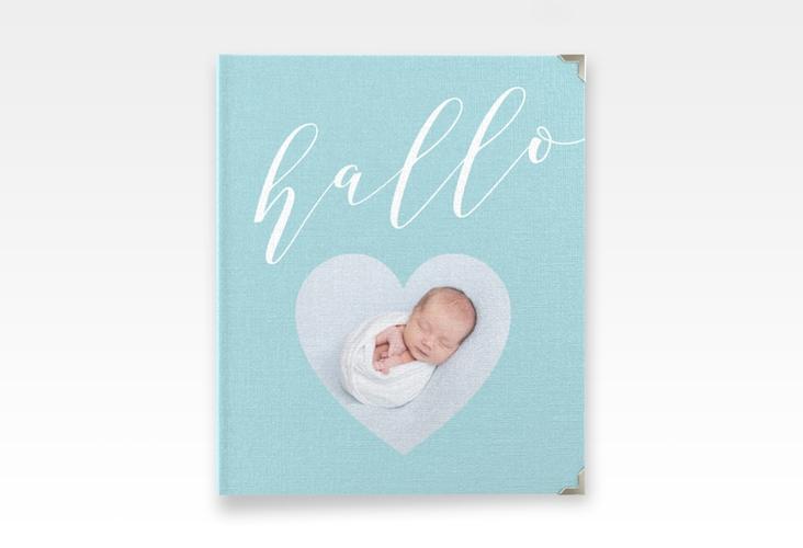 """Baby Fotoalbum """"Hallo"""" 21 x 25 cm blau"""