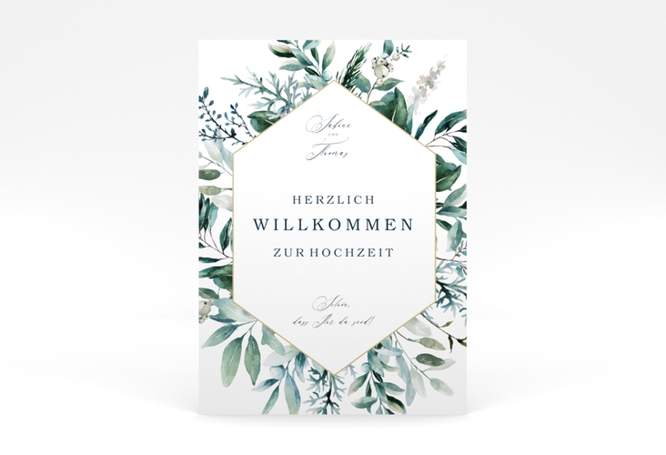 """Willkommensschild Poster """"Lumiere"""" 50 x 70 cm Poster weiss"""