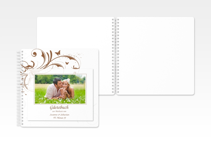 "Gästebuch Hochzeit ""Palma"" Ringbindung"