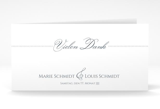 "Dankeskarte Hochzeit ""Pure"" DIN lang Klappkarte"
