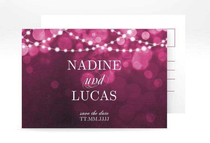 "Save the Date-Postkarte ""Lichtspiel"" A6 Postkarte"