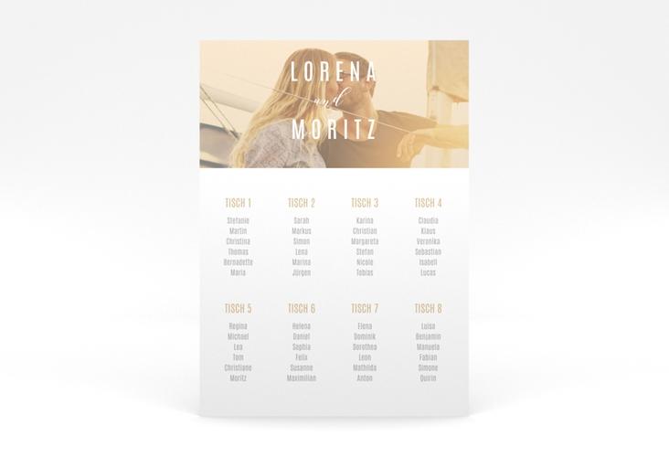 """Sitzplan Poster Hochzeit  """"Memory"""" 50 x 70 cm Poster beige"""